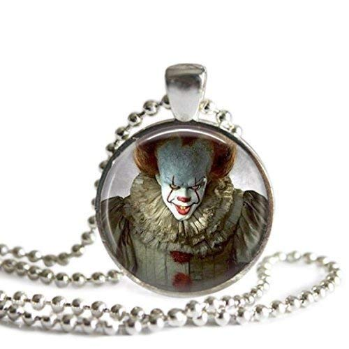 Pennywise 1 Inch Silver Plated Pendant Necklace]()