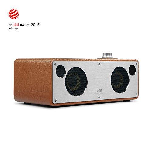 GGMM M3 Multiroom-Lautsprecher Wi-Fi/ Bluetooth/ AirPlay Lautsprecher Hi-Fi Stereomusiksystem für Smartphone, Tablet und PC, EU Stecker (Hellbraun)