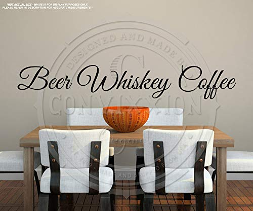 Beer Whiskey Coffee Wall Decal | Live Laugh Love Spoof | Large 40
