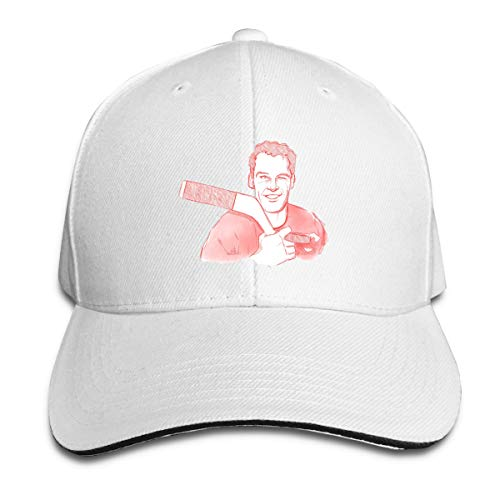 Unisex Classic Gordie-Howe-an-Art Adjustable Baseball Cap White