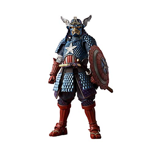 Manga Realization Samurai Captain America Action Figure Warrior Styling Action Character Models Japanese Samurai Style Japanese Samurai Model Children's Gift Series Model