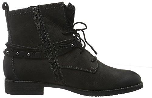 Tamaris 25107, Botas Militar para Mujer Negro (BLACK 001)
