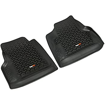 This Item Rugged Ridge All Terrain 12920.11 Black Front Row Floor Liner For  Select Jeep Wrangler Models