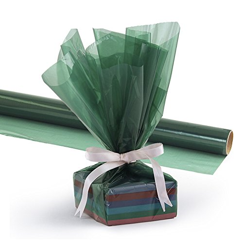 Hygloss Products Cellophane Roll - Cellophane Wrap for Crafts, Gifts, and Baskets 20 Inch x 5 Feet, Green