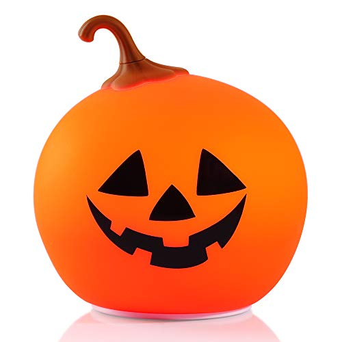 Pumpkin Night Light, Zanflare Chrismas Decorations Night Lights for Kids USB Rechargeable Children Pumpkin Lights, Color Changing Silicone Cute Night Lamp for Christmas Party Baby Bedroom