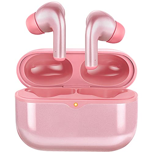 Wireless Earbuds, TWS Bluetooth 5.1 Headphones with Wireless Charging Case, 46H Playtime Hi-Fi Stereo Bluetooth…