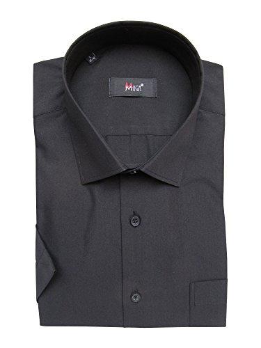 MUGA -  Camicia classiche  - Basic - Classico  - Maniche corte  - Uomo nero XXXXX-Large