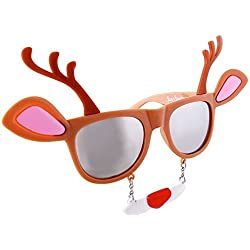 Holiday Reindeer Clear Lens Sunglasses