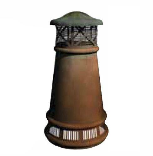 Copper Chimney Pot - European Bishop Round Copper Pot