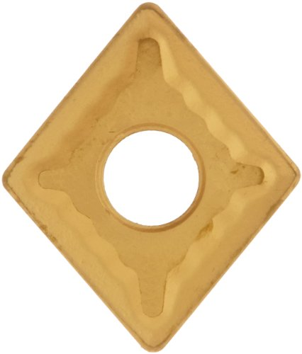"""Cobra Carbide 40178 Solid Carbide Turning Insert, CM02 Grade, Multilayer Coated, CNMG Style, CNMG 432, 3/16"""" Thick, 1/32"""" Radius (Pack of 10)"""