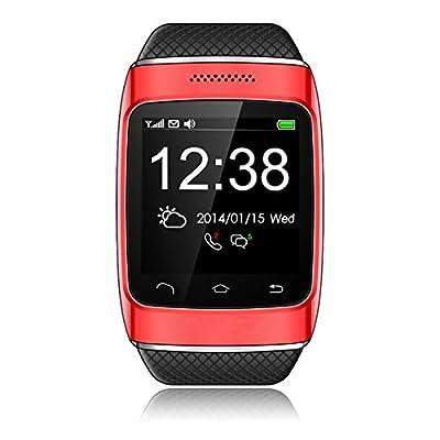 PowerLead PL- S12 Bluetooth V3.0 Sports Smart Watch -Red
