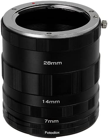 Fotodiox New Macro Lens Mount Adapter Black Macro-Tube-EOSM