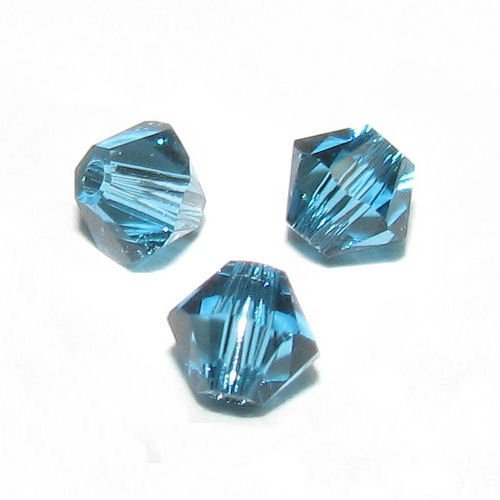 72 pcs Swarovski Crystal 5328 Xilion Bicone Bead Spacer Indicolite 3mm / Findings / Crystallized Element