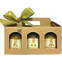 Tris di composte biologiche Efit - Mango - Limone - Clementine - Confezione regalo di Natale