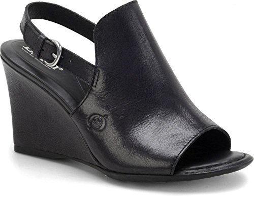 Born Women's Bevi, Black Full Grain Leather, 7 M (B) ()