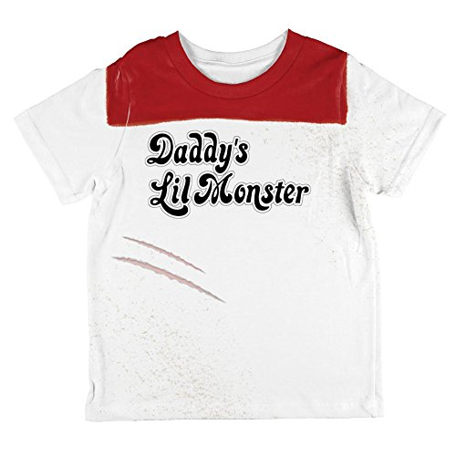 Halloween Daddy's Little Monster Costume All Over Toddler T Shirt Multi 2T - Little Monster Toddler Costume