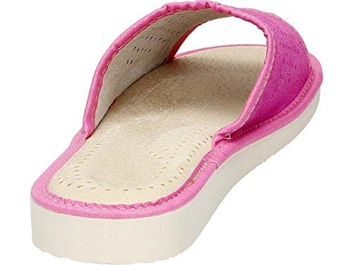 Pantuflas Para Mujer De Gamuza MEMORY FOAM Con Plantillas Ortopédicas, Talla 37,38,39,41,42 EU Pink Open
