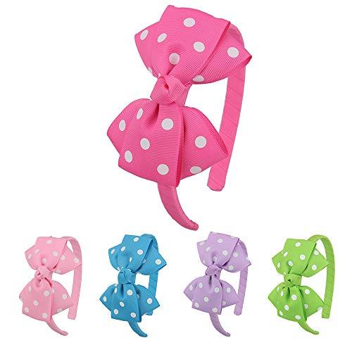 7Rainbows Fashion Polka Dot Bows Headbands For Girls(FS056-2) -