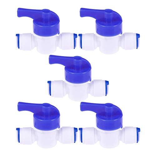 Hemobllo 5pcs Tube Ball Valve for Water Filters Water purifiers Reverse Osmosis Systems