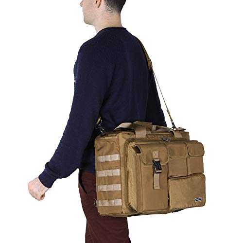 Lifewit 17'' Men's Military Laptop Messenger Bag Multifunction Tactical Briefcase Computer Shoulder Handbags by Lifewit (Image #7)