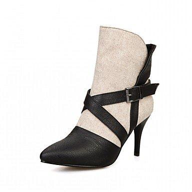 RTRY Zapatos De Mujer De Piel Sintética Pu Novedad Moda Otoño Invierno Confort Botas Botas Stiletto Talón Señaló Toe Botines/Botines Hebilla US9 / EU40 / UK7 / CN41