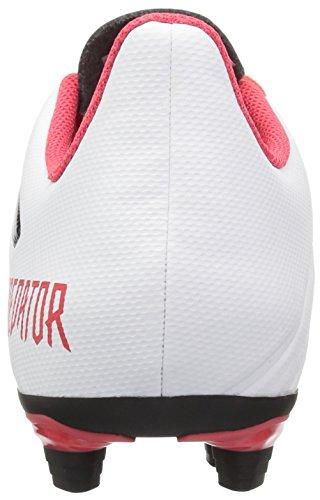 Adidas Originali Bambini Asso 18.4 Scarpa Da Calcio Fxg Bianco / Nucleo Nero / Corallo Reale