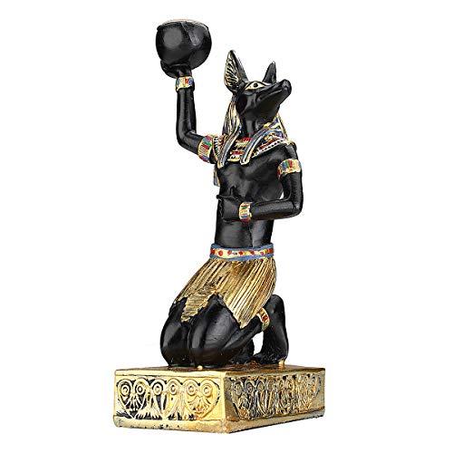 (Jeteven Tealight Candle Holders & Incense Burner Holder,Anubis/Egyptian Goddess/Sphinx Tabletop Decorative TeaLight Candle Stands (Anubis))