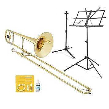41MVggoZDDL._SY355_ student tenor trombone in bb beginner pack by gear4music amazon