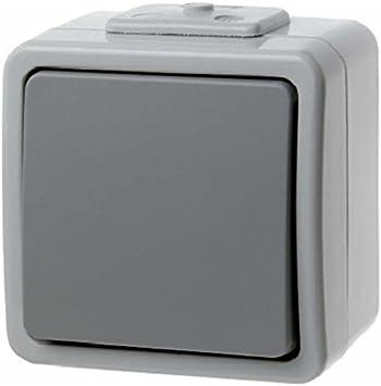 Berker Wipp-Schalter gr 936562507 IP44 grau Installationsschalter Kunststoff