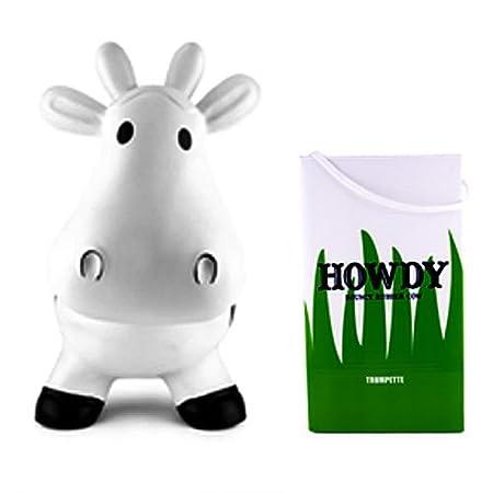 Trumpette Bebé blanco diversión hinchables vaca de juguete ...
