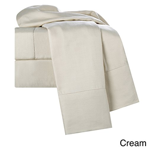 (Clara Clark Rayon from Bamboo/Cotton Bed Sheet Set Cream Queen)