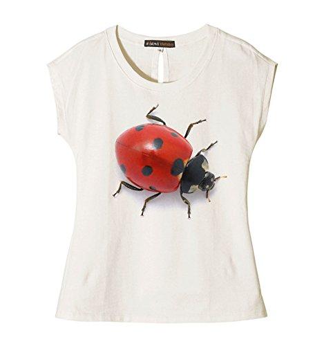 Ladybug Printed 100% Cotton Fashion Casual Wear T-shirt Plus Size WTS_02 2XL (Fashion Bug Plus Size)
