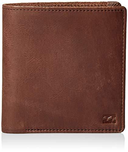(Billabong Men's Gaviotas Leather Wallet Brown One Size)