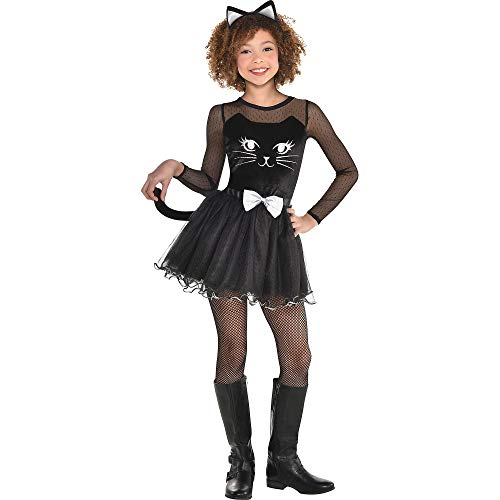 Black Cat Dress Halloween Costume for Girls, Small, with Included Accessories, by Amscan -