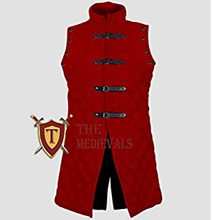 Thick Padded Bright Colour Cotton Gambeson Sleeveless Armor
