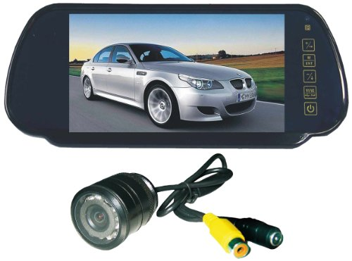 Tview RV725C 7-Inch Monitor Built-in Rear View Mirror wit...
