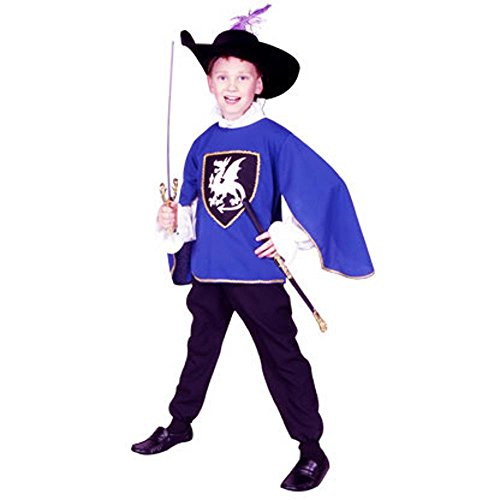 Musketeers Costume For Girls (Blue Musketeer Kids Costume)
