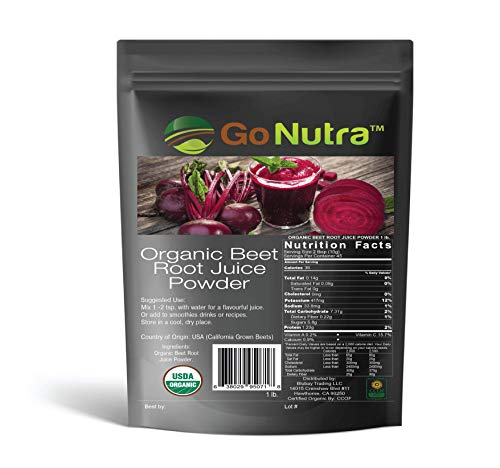 1 lb. Organic Beet Root Juice Powder - USA Grown Beets - Dissolves in Water