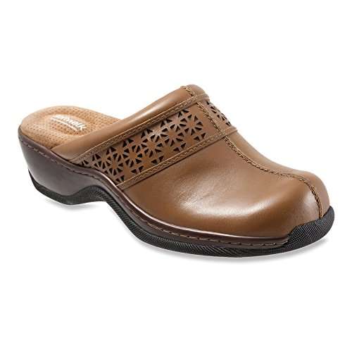 SoftWalk Women's Abby Cognac Laser Cut 8 M by SoftWalk