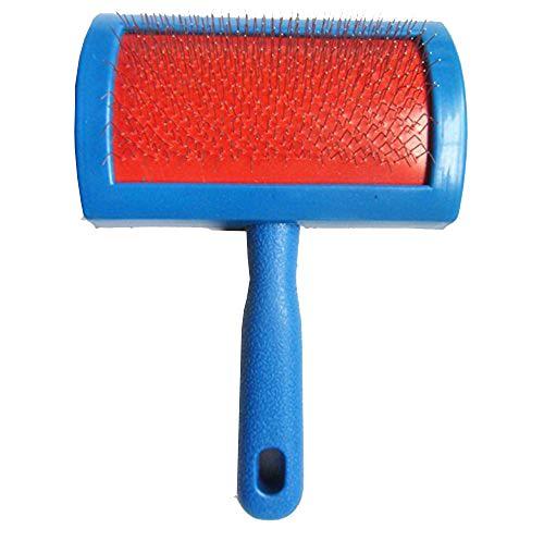 (HUAHOO Sheepskin Rug Brush and Cleaner Pet Slicker Wool Brush Fine Wire Rugs Brush Brushing Sheep Skin Rug)