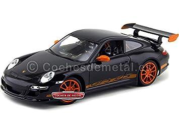 PORSCHE 911 (997) GT3 RS Negro/Naranja (WE18015BK). Welly 18015 S Cochesdemetal.es: Amazon.es: Juguetes y juegos
