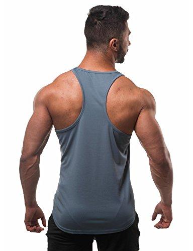 Clips Back Stringer Microfiber Gray North Men In Dri Jed Backstroke Coal Tank For Y Bodybuilding fit gavPwHq