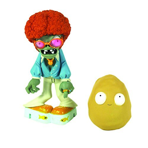 Plants vs Zombies 3-inch Disco Zombie and Wall-Nut Figure by Plants vs Zombies (Plants Vs Zombies Disco)