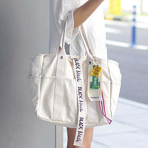 Mujer Los Bolsos blanco Bolso La Gran Mano Bolsos Lienzo bolsos Para Capacidad Crossbody Bolsa De Tote Cosméticos Mujer TIaTOqnt