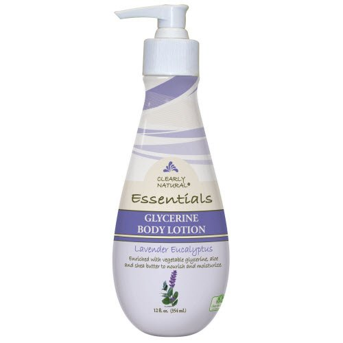 Clearly Natural Essentials Glycerine Body Lotion, Lavender Eucalyptus, 12 Fluid Ounce