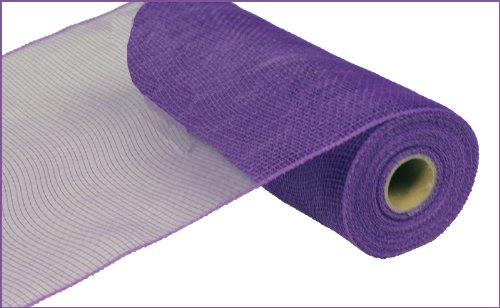 10 Inch x 30 Feet Deco Poly Mesh Ribbon - Purple Non Metallic : -