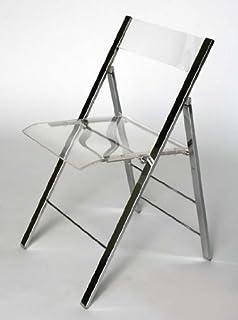 Clarity Acrylic Folding Chairs   (Set Of 2)
