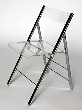 Exceptionnel Clarity Acrylic Folding Chairs   (Set Of 2)