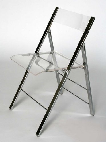 Clarity Acrylic Folding Chairs - (Set of 2)