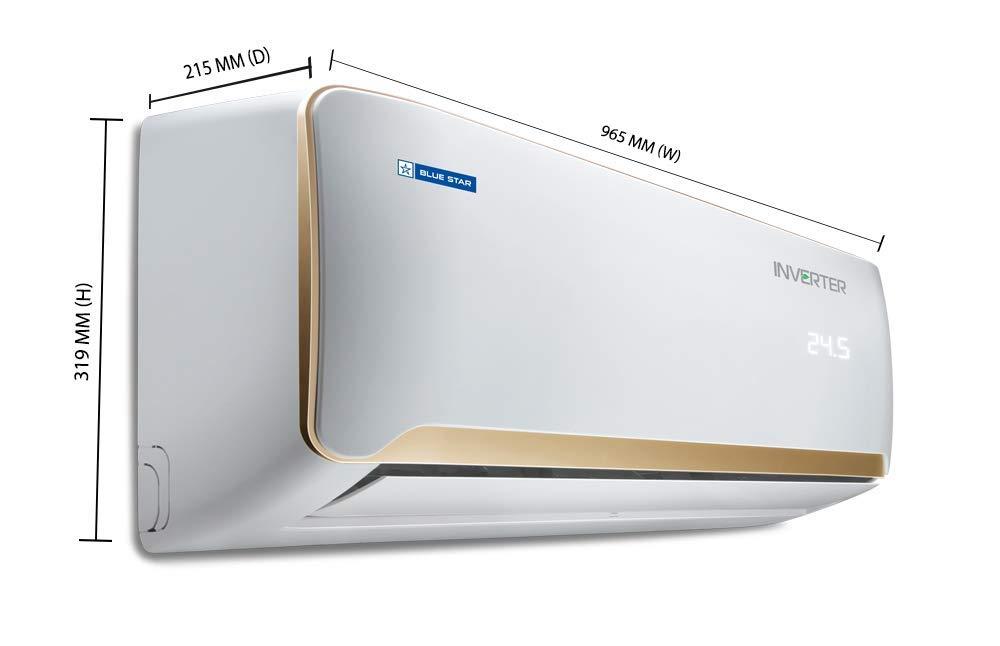 Blue Star 1.5 Ton 5 Star Inverter Split AC BS-5CNHW18QATX, White)